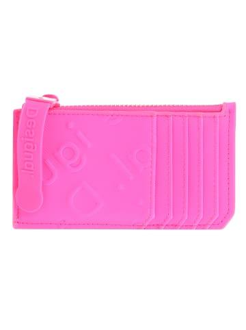 Desigual Colorama Kreditkartenetui 13 cm in rosa fluor