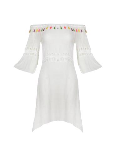 IZIA Kleid in Wollweiss