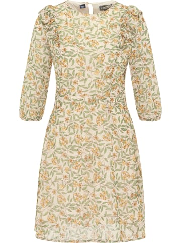 DreiMaster Vintage Kleid in Weiss Blumen