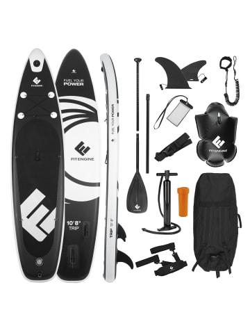 FitEngine Trip SUP-Board Set in Schwarz / Weiß