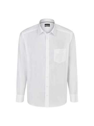 JUPITER Herrenhemd Stilvolles Herrenhemd in uni weiß