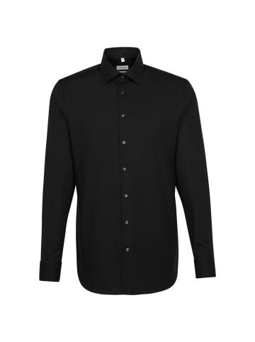 Seidensticker Business Hemd Shaped in Schwarz