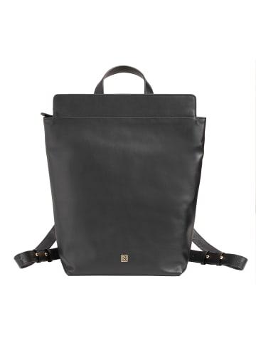 DuDu Rucksack Leder 36,5 cm in schwarz