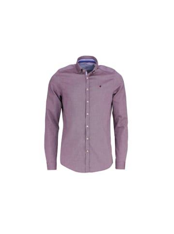 HATICO Hemden in bordeaux
