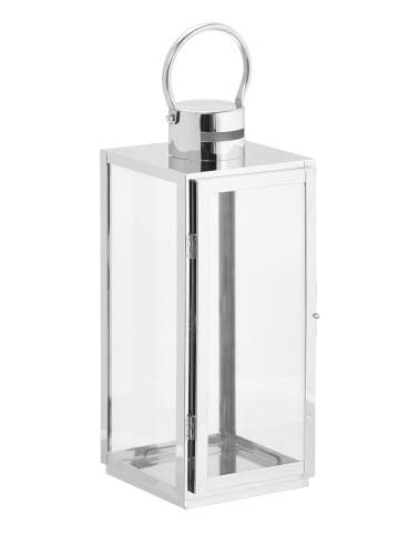 Gartenfreude Edelstahl Lampe in Silber ohne LED