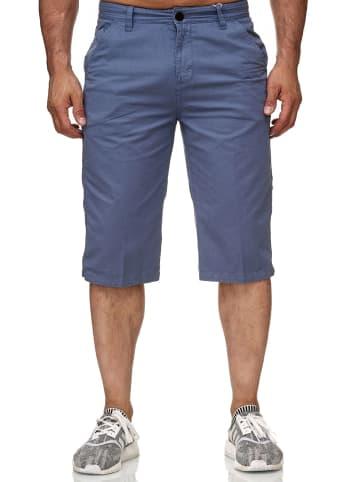 Tiggo Bermuda Shorts Kurze Chino 3/4 Capri Jeans Hose H2347 in Denim-Blue