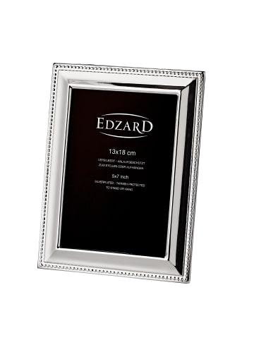 Edzard Bilderrahmen Perla in Silber, für Foto 13x18 cm, Versilbert & Anlaufgeschützt