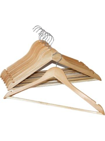 BÜRSTENMANN 8er-Set Holz Kleiderbügel