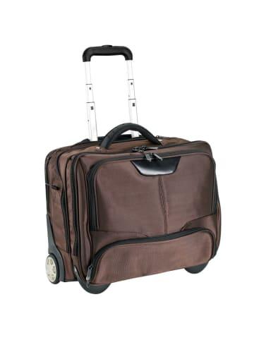 Dermata Business-Trolley 43 cm Laptopfach in braun