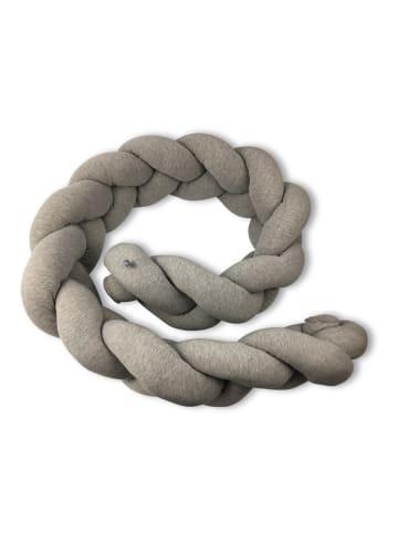 La lou Bettschlange Twist aus Jersey - Hellgrau (L) 215 cm ca. 30 cm (B)