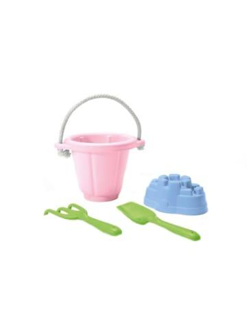 Green Toys Sandspielzeug 4 Teile mit rosa Eimer