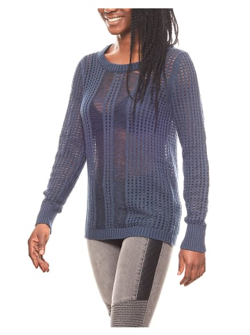 Corley Grobstrick-Pullover in Blau