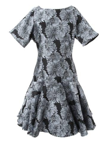 MaDam-T Alltagskleid Kleid Sacasa in grau-blau, schwarz