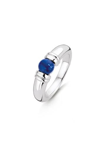 """Ti Sento Milano Ring """"lapisblauer Stein"""" in silber und blau"""