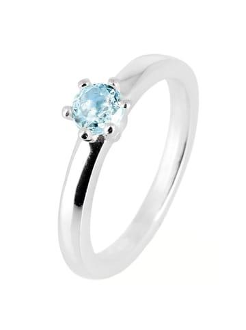 "Heartbreaker Ring ""Stacking Ringe LDMR18"" in silber und blau"