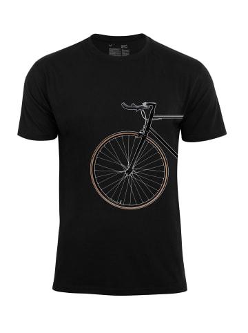 Cotton Prime® T-Shirt Bike Lover - Vorderrad in Schwarz
