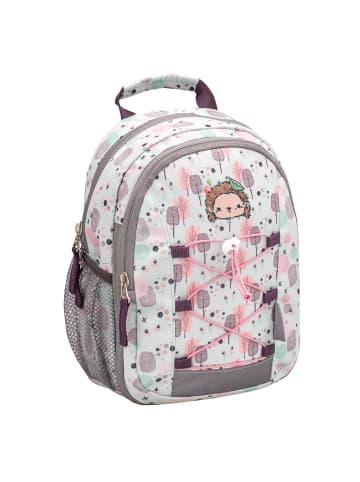 "Belmil Kindergartenrucksack ""Mini Kiddy Woodland Hedgehog"" in mint H 23 cm L 20 cm T 9 + 6 cm"