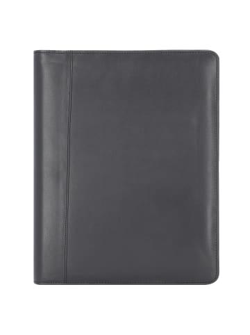 Alassio Monza Schreibmappe Leder 34 cm in schwarz