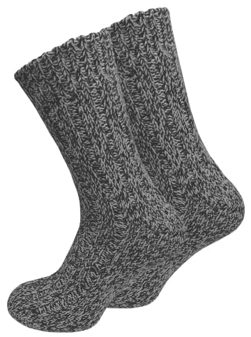Cotton Prime® Norweger Strick-Socken 2 Paar, Unisex in anthrazit