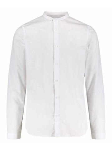 NOWADAYS Langarm Freizeithemd in weiß