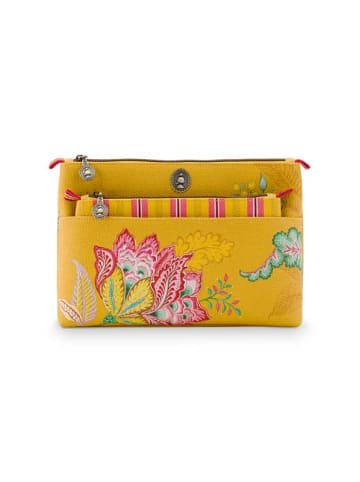 "PiP Studio Kosmetiktasche ""Combi Jambo Flower Yellow"" in Gelb - 26x18x7.5cm/22x13x1cm"