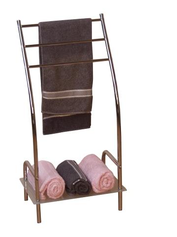 Möbel-direkt Handtuchhalter mit Ablage Handtuchhalter in silber und andere