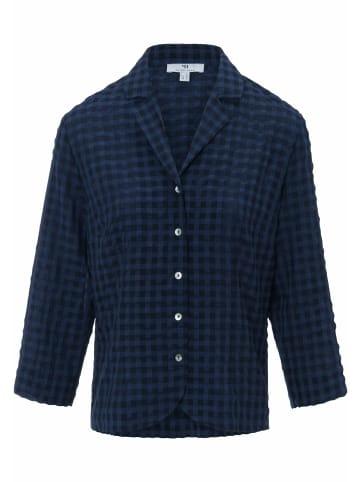 Mayfair BY PETER HAHN  Kurzarmbluse Bluse mit 3/4-Arm in nachtblau