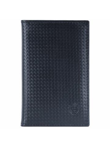 VON HEESEN Slim Wallet in schwarz (carbon)