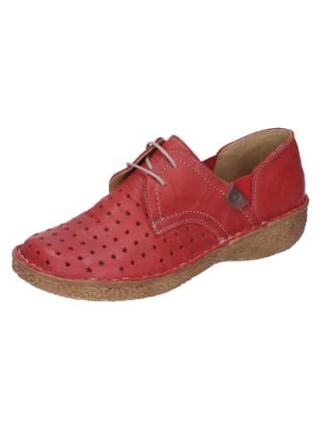 Comfortabel Schnürschuhe in rot
