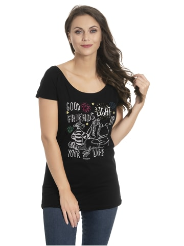 Disney Winnie Puuh Loose-Shirt Good Friends Girl Loose in schwarz