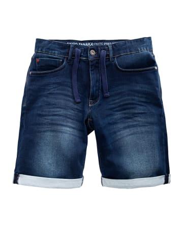 Akito Tanaka Akito Tanaka AKITO TANAKA Herren Jogg Shorts im Denim-Look in dunkelblau