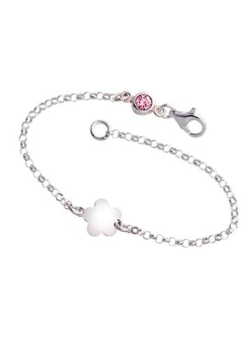 ChainMAGPIE 925 Silber Armband mit rosafarbenen Swarovski Kristall