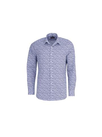 MARVELIS Langarm Freizeithemd in blau