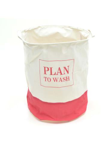 """Pink Papaya Wäschesack """" Plan To Wash """" in pink/weiß"""