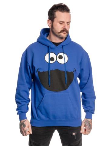 Sesamstraße Kapuzensweatshirt Monster in königsblau