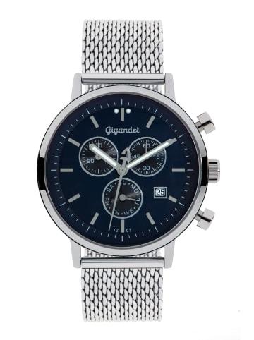 """Gigandet Quarzuhr Chronograph """"CLASSICO"""" in Silber/Blau"""