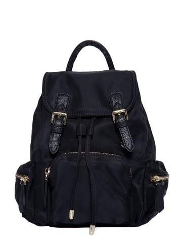 Pyato Pyato PYATO Rucksack mit kontrastierenden Metallelementen in schwarz