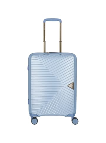 March15 Trading Gotthard 4-Rollen Kabinentrolley 55 cm in blue grey metallic