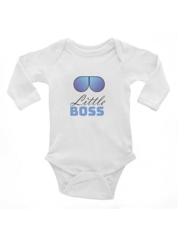 Idil Baby Baby Junge Body -little boss in Weiss