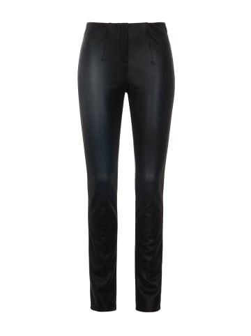 Million X - Women Damen Hose Happy Fit Leather Like in black