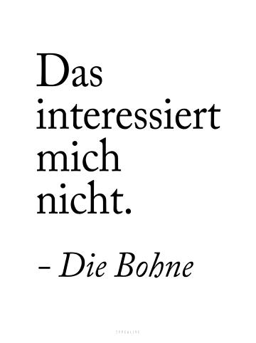 """Typealive Print """"Die Bohne"""" / A3 bis 60 x 90 cm"""