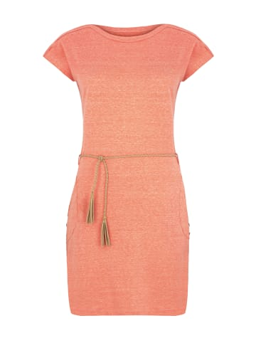 Million X - Women Damen Kleid mit Gürtel in peach candy
