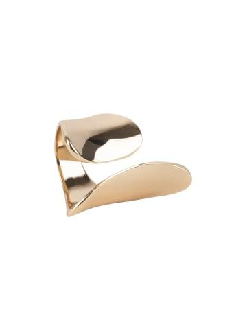 TOSH Statement-Ring in Glanz-Optik in goldfarben