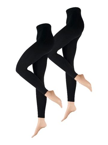 Nur Die  Leggings aus Baumwolle in Schwarz