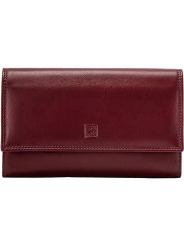 DuDu Geldbörse RFID Leder 17,5 cm in burgundy