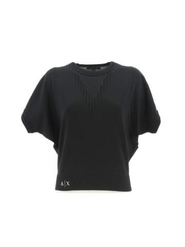 Giorgio Armani Rundhalspullover in schwarz