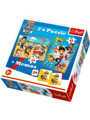 Trefl 2x Puzzle 30/48 Teile + Memo - Paw Patrol