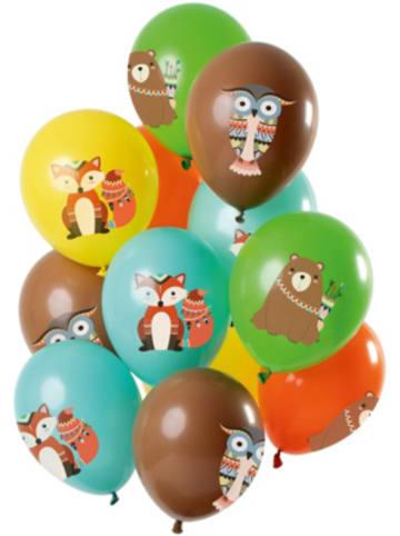 FOLAT Luftballons Waldtiere 30 cm, 12 Stück