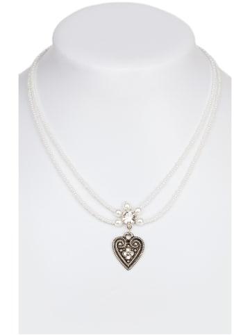 Schuhmacher Halskette 13007-2044, 2reihig aus Perlen, weiss