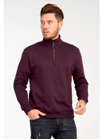 SOULSTAR Sweatshirt in weinrot